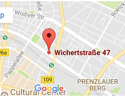blue media event Wichertstraße 47