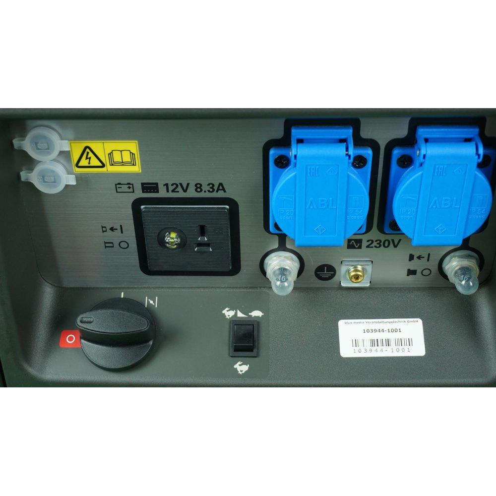 Stromaggregat mieten Verleih ausleihen Benzingenerator Generator mobil Miete
