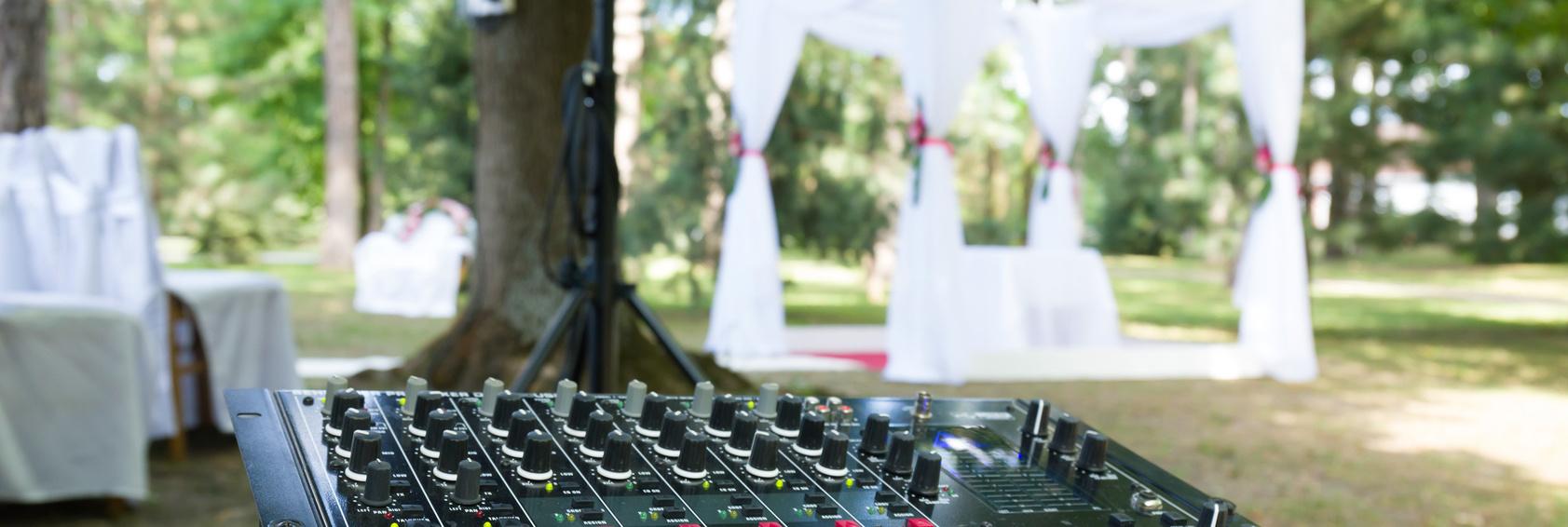 Tontechnik für Hochzeit mieten