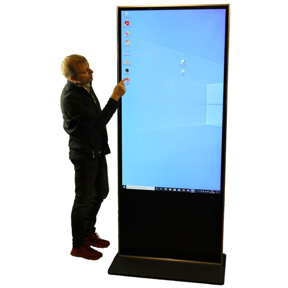touchscreen mieten Berlin Verleih Hochkant Porträt Kiosk Infostele ausleihen Berlin